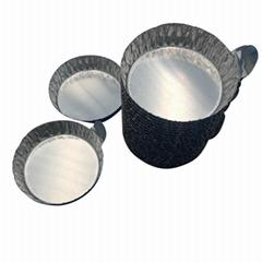 帶手柄鋁制實驗稱量盤 鋁箔稱量盤 稱量盤 稱量皿 小號 100只/包