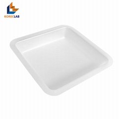 250ML Large Size Plastic Flat Bottom Square Sample Weighing Dishes/ Boats