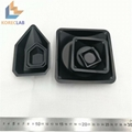 Black Plastic Square Weighing Dishes Weighing Boats
