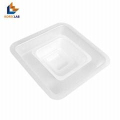 100ML Medium Size Plastic Flat Bottom Square Sample Weighing Dish /Boat