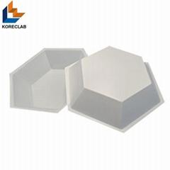 50ML Medium size Hexagonal Antistatic Plastic Polystyrene Sample Weighing Dishes