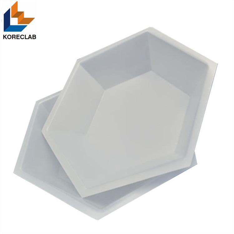 50ML Medium size Hexagonal Antistatic Plastic Polystyrene Sample Weighing Dishes 5