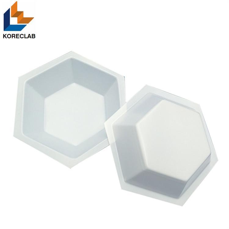 50ML Medium size Hexagonal Antistatic Plastic Polystyrene Sample Weighing Dishes 6