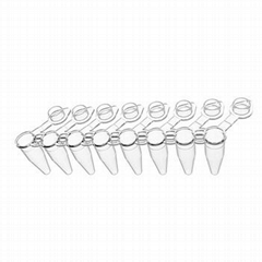 Lab supplies pcr 8-strip tube with Flat Cover 0.1ml