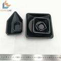 100ml 黑色正四方形塑料稱量皿 稱量碟 稱量舟 4