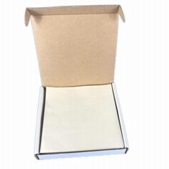 Low nitrogen non absorbing high gloss cellulose butter weigh paper