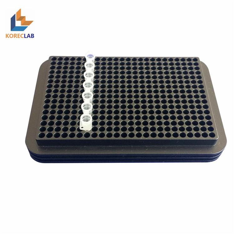 96 well metal aluminum conductive PCR plate test tube cooling rack  2