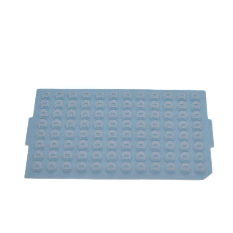 96 Round Well PCR Plate Silicone Sealing Mat PCR Plate Cover 1