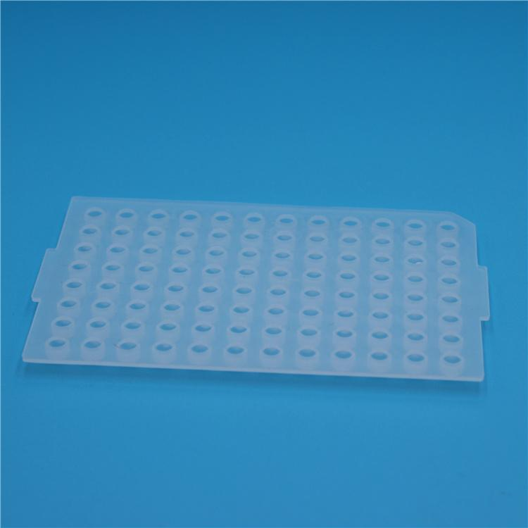 96 Round Well PCR Plate Silicone Sealing Mat PCR Plate Cover 2