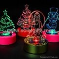 Solar power artificial flower car decoration with color changing led light  3