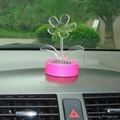 Solar power artificial flower car decoration with color changing led light  4