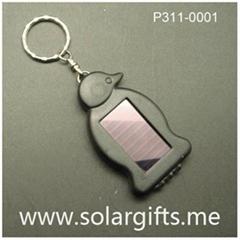 promotion solar led light key chain P311-0001
