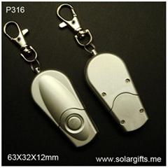logo custom fashion design led flashlight keychain P316