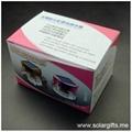 汽車擺設裝飾品 太陽能七彩發光禮品三稜水晶香水瓶 空氣清新劑 5