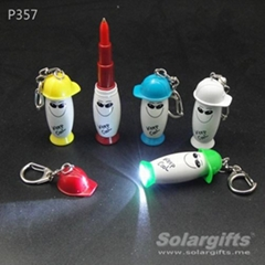 Promotion gift mini pen with led torch P357