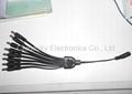 1 to 8 Way DC Jack/Plug Splitter Cable for Cameras / CCTV Power Splitter SP1-8H