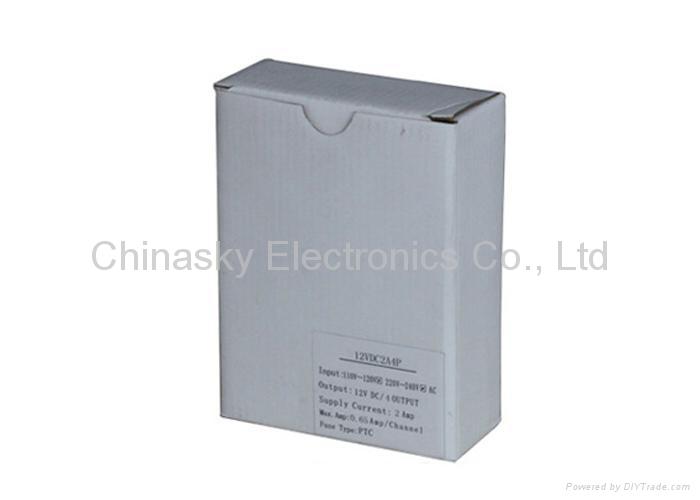 12VDC 2Amp 4 Channel CCTV Camera Power Supply Box 12VDC2A4P (12VDC2A4P ) 5