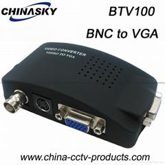 BNC S-Video to VGA Video Converter for CCTV Camera Accessories (VTB100)