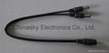 CCTV Power Connector 2 Way Cable Splitter , 1 Way to 2 Way DC plug SP1-2