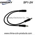 2 Way DC Jack/Plug Splitter Cable / DC power splitter SP1-2H