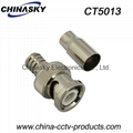 BNC Connector / BNC Male Crimp On for RG59 U Cable / CCTV Connector (CT5013)