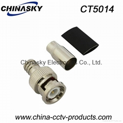BNC Male Crimp On Connector with Short Boot for RG59 U Cable (CT5014)