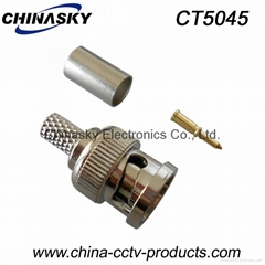 CCTV BNC Connector, BNC Male Crimp on Connector, 3 pieces, CCTV Connector CT5045 (Hot Product - 1*)