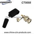 Coaxial BNC Connector with Screw and Boot (CT5055)