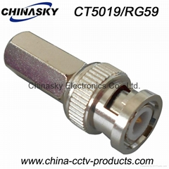 Male Twist-on CCTV BNC Connector for RG59 Cable (CT5019/RG59)