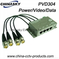 4CH CCTV Cat5 Power Video Data Combiner HD Balun (PVD304H)