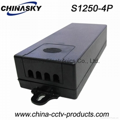 4CH 5A CCTV Power Supplies , High Efficiency CCTV Power Adapter Wall-mounted