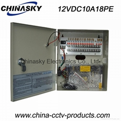 CCTV Camera Power Supply Box 12V 10A18 Channel with LED and Lock(12VDC10A18PE)