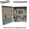 CCTV Camera Power Supply Box / Unit, 12V  5A 9 Channel with Lock(12VDC5A9PE)