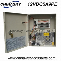 CCTV Camera Power Supply Box / Unit, 12V  5A 9 Channel with Lock(12VDC5A9PE) (Hot Product - 1*)