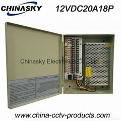 CCTV Camera Power Supply 12V 20A 18 Channel(12VDC20A18P)
