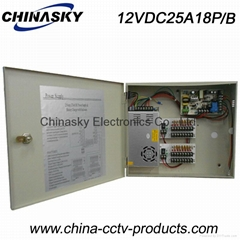 CCTV Camera Power Supply/Store/Station 12V 25A18CH Battery Back-up (12V25A18P/B)