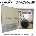 CCTV Camera Power Supply Metal boxed 24V10A18channel(24VAC10A18P)