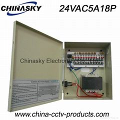 Integrated  CCTV Camera Power Supply /  Distributor 24V5A18channel (24VAC5A18P)