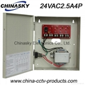 CCTV Camera AC Power Supply 24V2.5A 4 Channel (24VAC2.5A4P)