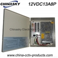 CCTV Power Supply with metal cased12V13Ap8channel(12VDC13A8P)
