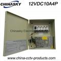 CCTV Power Supply 12V10A4channel(12VDC10A4P)