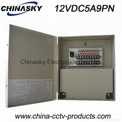 Premium CCTV Power Supply Unit12VDC 5Amp 9 Channel, CCTV Power Supply Box