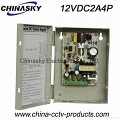 12VDC 2Amp 4 Channel CCTV Camera Power Supply Box 12VDC2A4P