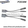 Passive POE Cable, PoE Splitter x1, PoE Injector x1, 30M(pair)
