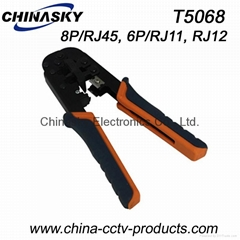 Telephone Crimping Tools, Cutter-Stripper-Crimper in One Tool(T5068)