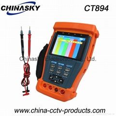 3.5 inch CCTV video tester  with 12VDC output, digital multimeter CT894