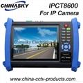 Multi-functional CCTV Tester: HD IP/Tvi/Ahd/Sdi/Cvi Camera Tester (IPCT8600)