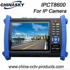 Multi-functional CCTV Tester: HD IP/Tvi/Ahd/Sdi/Cvi Camera Tester IPCT8600