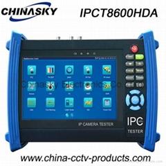 7'' CCTV Tester: IP, Ahd, Tvi and Cvi Cameras CCTV Tester (IPCT8600HDA)