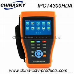 4.3 inch CCTV Tester with monitor: IP, AHD, TVI and CVI (IPCT4300HDA)
